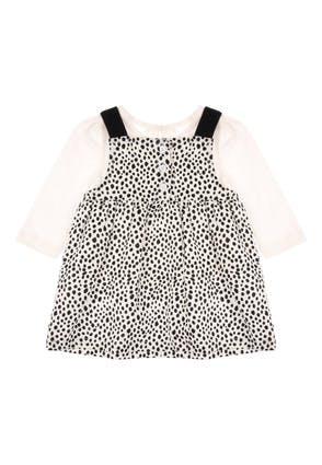 Baby Girls Cream Spot 2-In-1 Dress