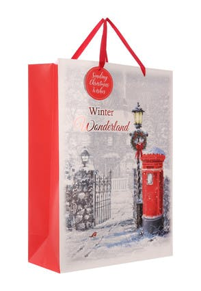 Extra Large Red Postbox Christmas Gift Bag