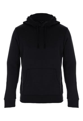 Mens Black Pullover Hooded Sweater