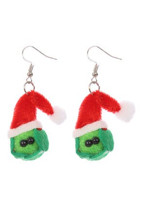 Womens Christmas Sprouts Earrings