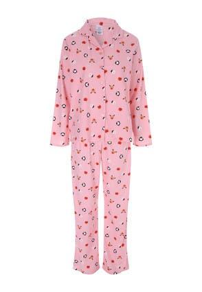 Womens Pink Soft Touch Christmas Pyjama Set