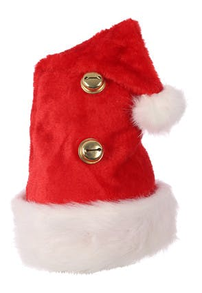Red Santa Hat with Bells