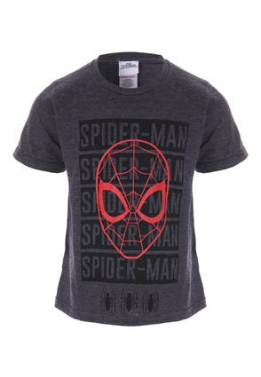 Younger Boys Grey Spider-Man T-Shirt