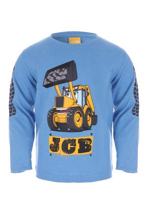 Younger Boys Blue JCB Long Sleeve Top