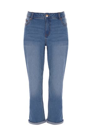 Womens Blue Relaxed Fit Jeans