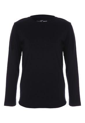 Older Boys Black Long Sleeve T-Shirt