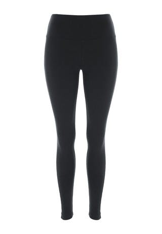 Womens Black Wide Waistband Leggings